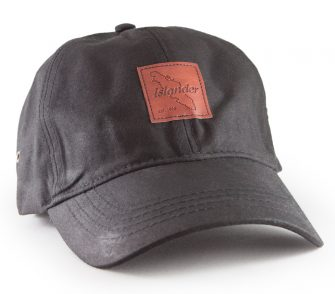 Black Islander Leather Patch Oilskin Hat