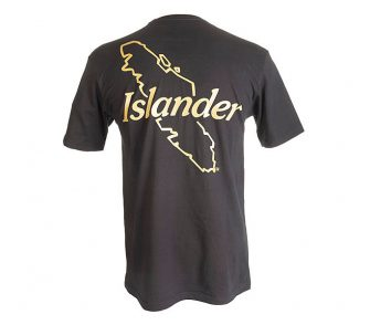 Black Islander Logo Tee Shirt Back