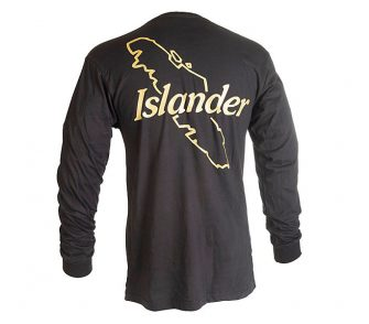 Black Islander Long Sleeve Logo T Shirt Back