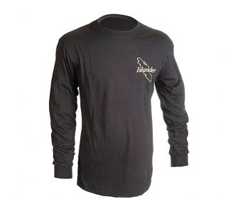 Black Islander Long Sleeve Logo T Shirt