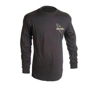 Black Islander Long Sleeve Logo T Shirt