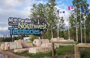 Northwest Territories Welcome Sign
