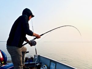 Trolling for lake trout NWT