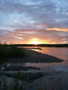 Fly Fish Alaska Sunrise
